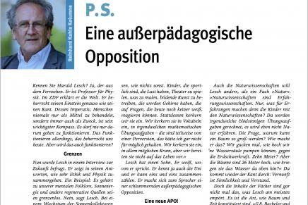 PS Juli Eine außerpädagogische Opposition