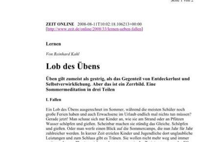 ZEIT online Lob des Übens I. Fallen