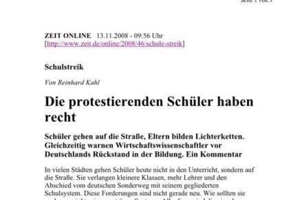 ZEIT online Protestierende Schüler haben recht