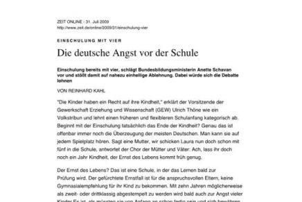 ZEIT online  Die deutsche Angst vor der Schule
