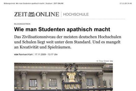 ZEIT online 43 Bildungsstreik