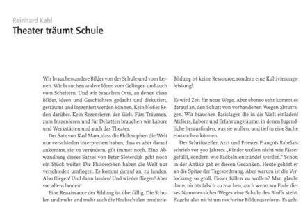 theater träumt schule.  Festschrift  M. Zurmühle