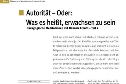 Päd. Meditation mit Hannah Arendt II.