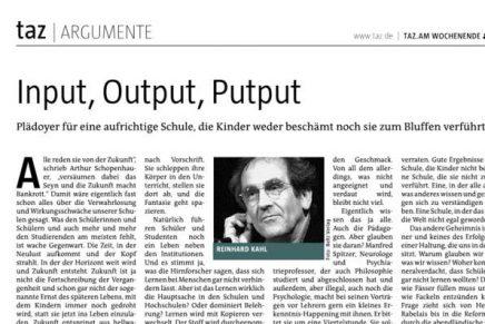 taz input, output,putput