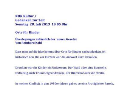 NDR Kultur – Orte für Kinder