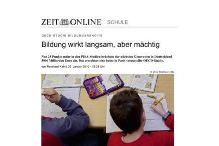 ZEIT online Bildung wirkt langsam OECD Studie