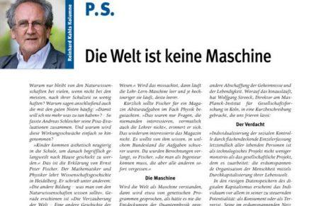P 10 Die Welt ist keine Maschine