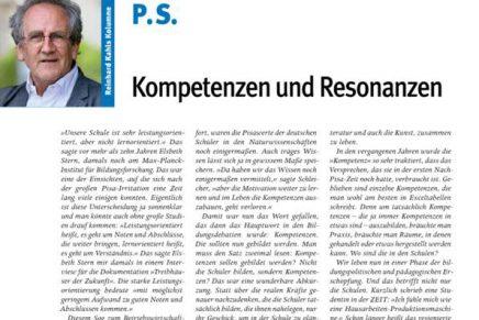 PS 2 Kompetenzen und Resonanzen