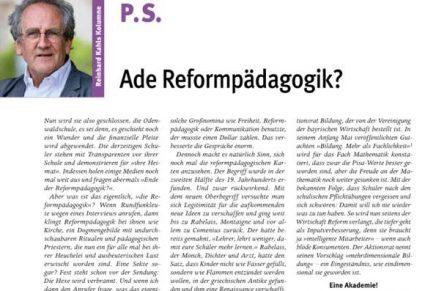 PS 6 Reformpädagogik ade