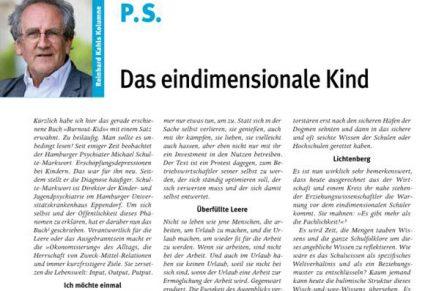 PS 7 Das eindimensionale Kind
